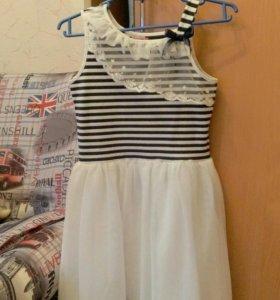 Платье - сарафан с пышной юбкой , болеро в подарок