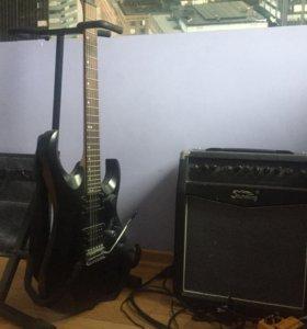 Гитара Cort x1 и комбик