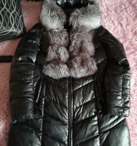 Куртка коженная, зима.