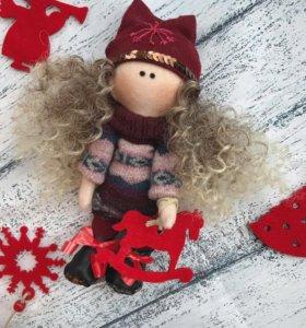 Интерьерная кукла новогодняя