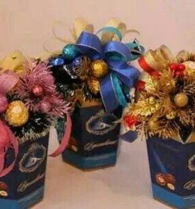 Продам Новогоднее коробочки конфет