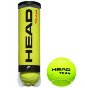 Теннисные мячи head team цена за 6 шт