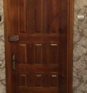 Дверь деревянная двойная