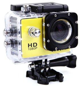 Экшен-камера Новая + Аквабокс и крепления