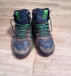 Кожанные ботинки кросовки
