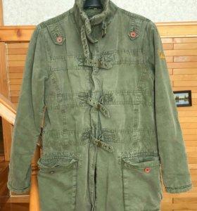 Темно-оливковая демисезонная куртка Rare Republic