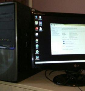 Компьютер I3-2100 3.1 GHz с монитором