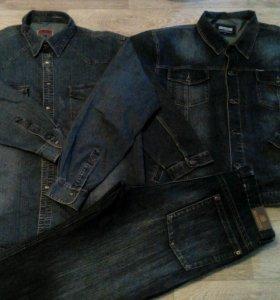 Костюм джинсовый/большой размер