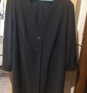 Длинный кардиган ( пиджак ) р-р 60-62
