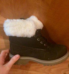 зимнее ботинки замшевые