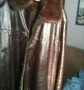 Куртка кожаная-дубленка