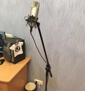 Микрофон Samson C01U, стойка, паук