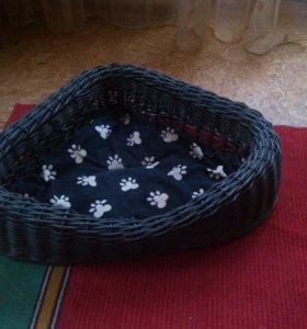 Лежак плетеный для кошки
