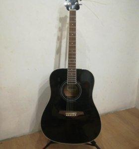 Гитара акустическая +гитарный стенд.