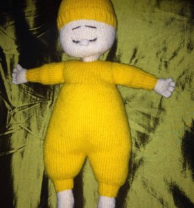 Кукла-сплюшка Апельсинка ручной работы