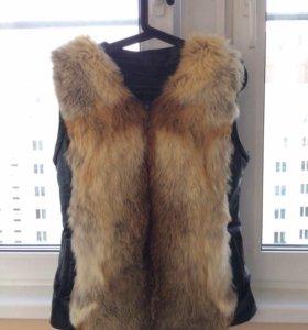 Кожаная куртка-трансформер с мехом. Срочно
