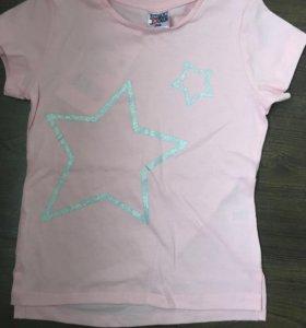 Новые футболки на девочку 3 года 98 см