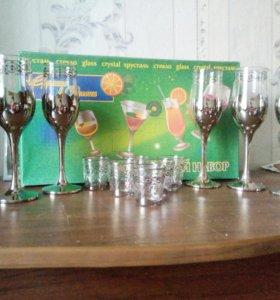 Набор бокалы+рюмки