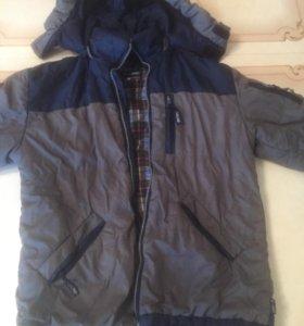 р34 подростковая куртка удлинённая сзади
