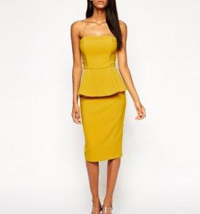 Платье с баской ASOS Premium