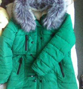 Теплая зимняя куртка.