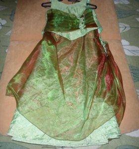 Нарядный костюм (юбка + топ), 9-10 лет