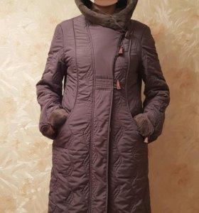 Демисезонное пальто р.48