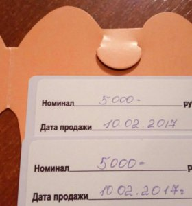 Сертификат на 10000 т.р танай экстрим парк