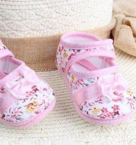 Туфельки на мягкой подошве для девочки 4-10 мес