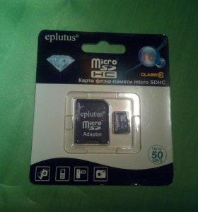 флеш карта micro SDHC 16 GB EPLUTUS