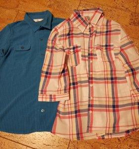 Рубашки 2 шт., 152 размер на 10-12 лет