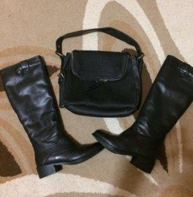 Продам сапоги и сумку)))