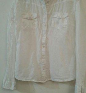 Рубашка женская белая!