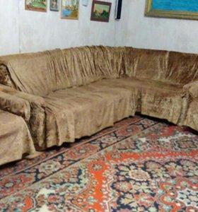 Угловой диван+2кресла