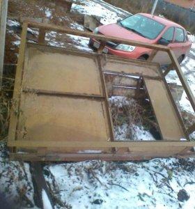 Железная дверь в б/у гаражная
