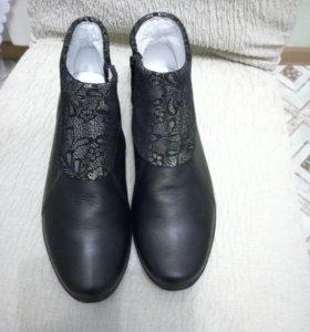 Ботинки кожаные Bartek.для девочки пр-во Польша,ра
