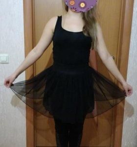 Платье с юбкой сеткой
