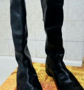 Хромовые сапоги