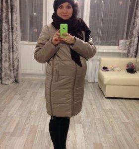 Пуховик / пальто для беременных зимний Буду мамой