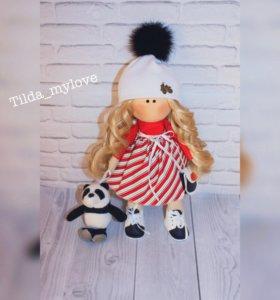 Текстильная кукла (ручная работа) 28 см