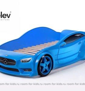 Объёмная кровать-машина