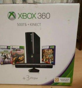 Xbox 360e +kinect 500гб