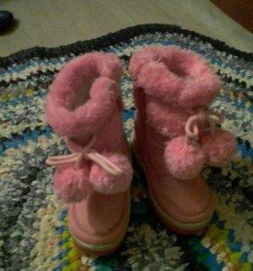 Ботинки детские зимнии