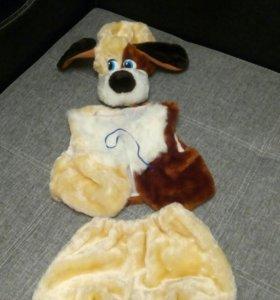 Новогодний костюм собаки