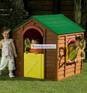 Пластиковый детский домик