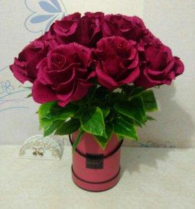 Букет роз. ОНИ НЕ ЗАВЯНУТ