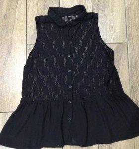 Блуза кружево шифон