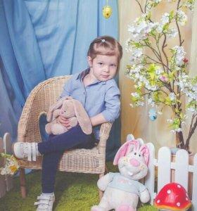 Кресло плетеное детское