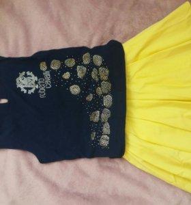 костюм юбка майка