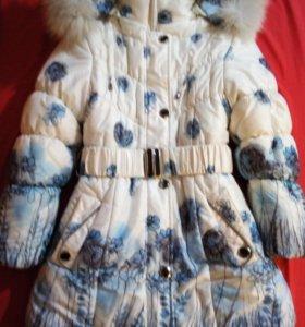 Теплое пальто.От7 до9лет.
